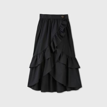 Women's Wrap Midi Skirt - Who What Wear Black