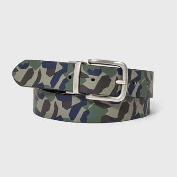 Kids' Reversible Belt - Cat & Jack M, Green/silver