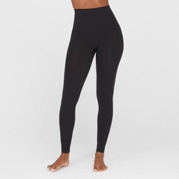 Assets By Spanx Women's Seamless Slimming Leggings - Black M,