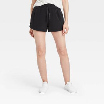 Women's Mid-rise French Terry Shorts 3.5 - All In Motion Black