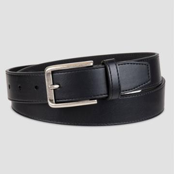 Men's 32mm Stitched Belt - Goodfellow & Co Black