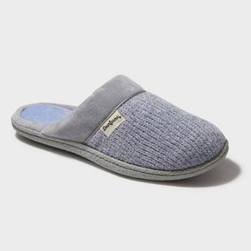 Women's Dearfoams Chenille Scuff Slide Slippers - Sleet Gray Xxl (13-14),