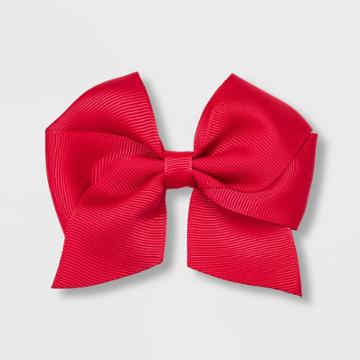 Girls' Solid Bow Clip - Cat & Jack Red