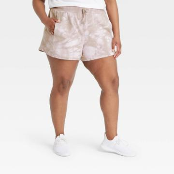 All In Motion Women's Plus Size Mid-rise French Terry Shorts - All In