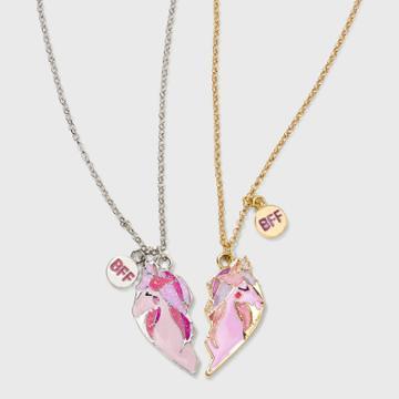 Girls' Broken Heart Unicorn Necklace Set - Cat & Jack , Gold/silver