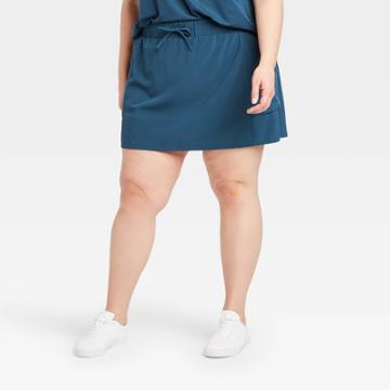 Women's Plus Size Move Stretch Woven Skorts 16 - All In Motion Blue 1x, Women's,