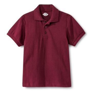 Dickies Boys' Pique Polo - Burgundy (red)