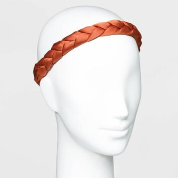 Satin Braided Head Wrap - A New Day Rust, Red