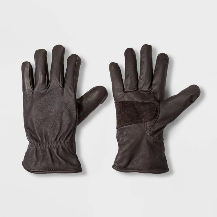 Men's Leather Glove - Goodfellow & Co Brown S/m, Men's, Size: