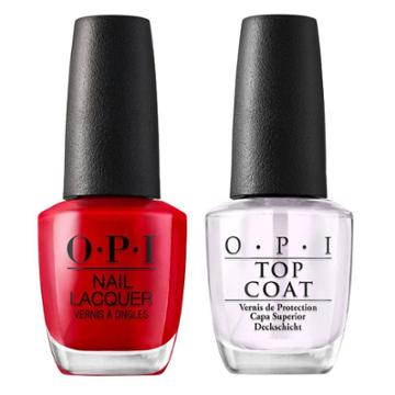 Opi Nail Laquer Big Apple Red/top Coat - 2pk, Adult Unisex