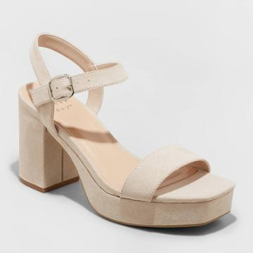 Women's Zoey Heels - A New Day Taupe