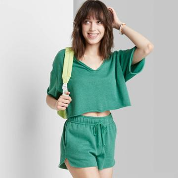 Women's High-rise Dolphin Shorts - Wild Fable Vintage Green