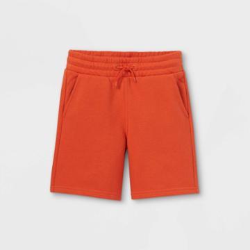 Kids' Knit Jogger Shorts - Cat & Jack Orange