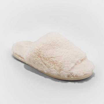 Women's Capri Faux Fur Slide Slippers - Stars Above Cream