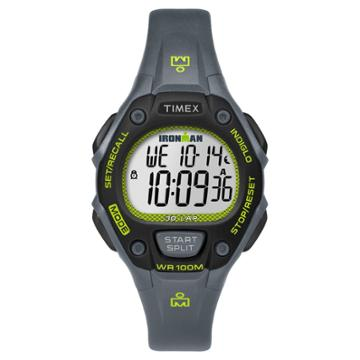 Women's Timex Ironman Classic 30 Lap Digital Watch - Gray/lime Tw5m14000jt, Gray Black