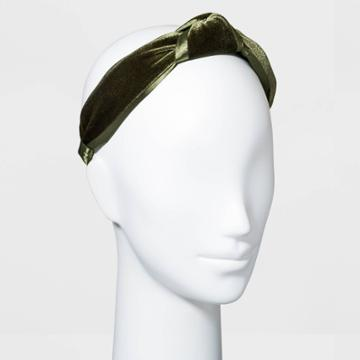 Velvet Knot Headband - A New Day Green