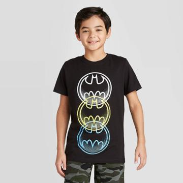 Petiteboys' Short Sleeve Batman Signal T-shirt - Black