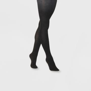 Women's Flat Knit Sweater Tights - A New Day 1x/2x, Size: