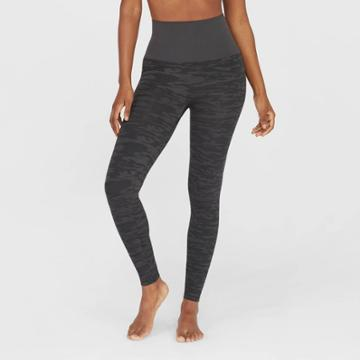 Assets By Spanx Women's Camo Print Leggings - Gray M,