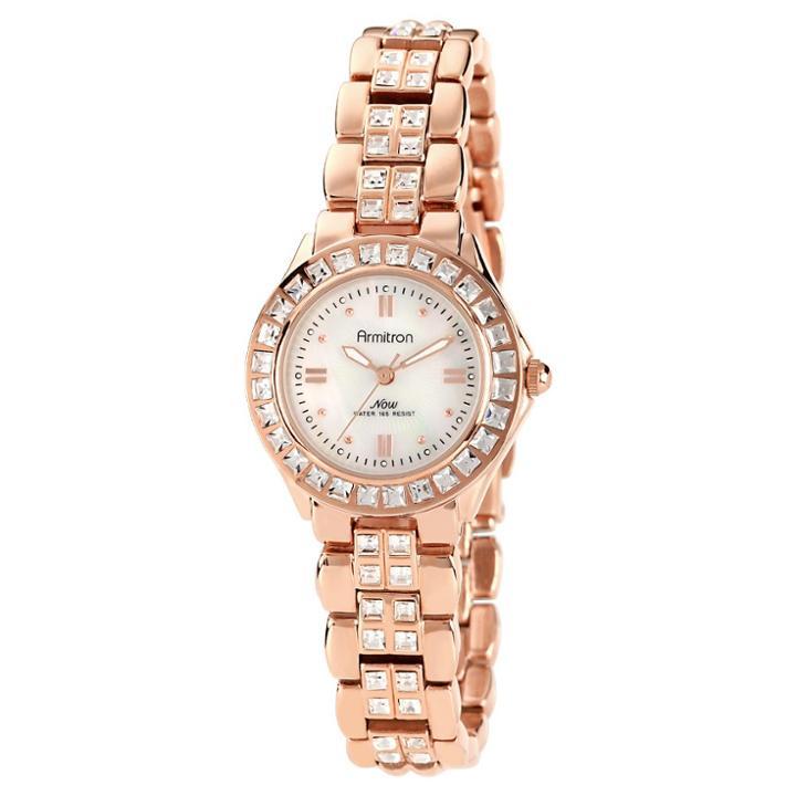 Armitron Ladies' Swarovski Crystal Bracelet Watch - Rose Gold