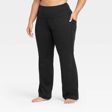 Women's Plus Size Contour Curvy High-rise Straight Leg Pants With Power Waist 28.5 - All In Motion Black 1x Short, Women's, Size:
