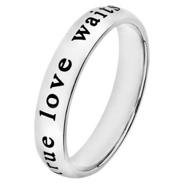 Elya 'true Love Waits' Stainless Steel Ring,
