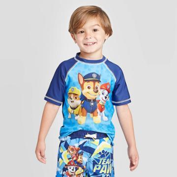 Toddler Boys' Paw Patrol Rash Guard - Blue 2t, Toddler Boy's,