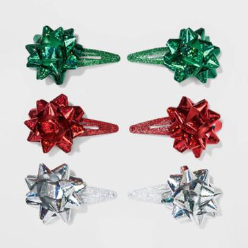 No Brand Gift Bows On Metal Snap Hair Clips And Pins