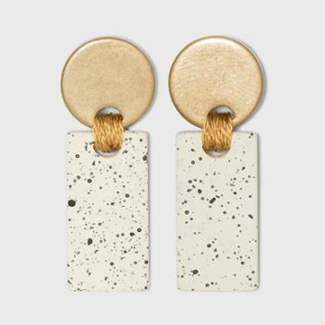 Disc And Speckled Bar Drop Earrings - Universal Thread Ivory