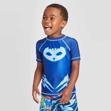 Toddler Boys' Pj Masks Rash Guard - Blue 2t, Toddler Boy's,