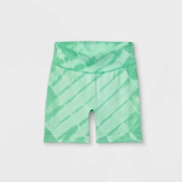 Girls' 5 Seamless Bike Shorts - All In Motion Green