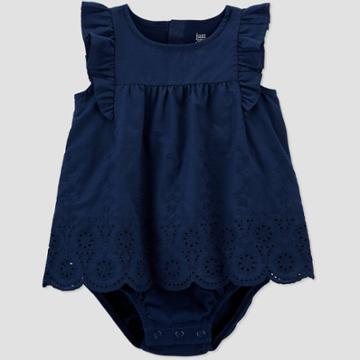 Baby Girls' Sunsuit Romper - Just One You Made By Carter's Navy Newborn, Blue