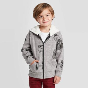 Toddler Boys' Star Wars Long Sleeve T-shirt - Heather Charcoal 2t, Boy's, Gray