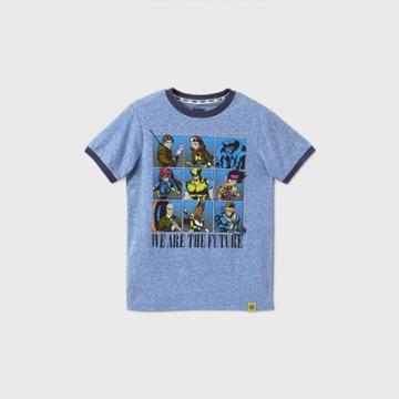 Boys' Short Sleeve Marvel X-men 'we Are The Future' T-shirt - Blue