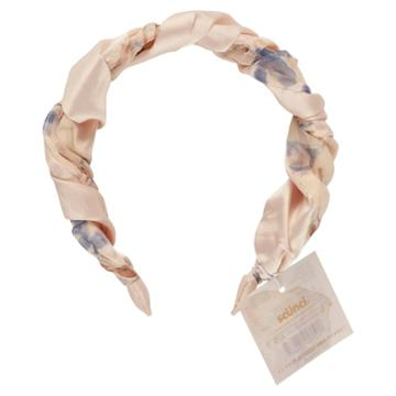 Scunci Collection Twisted Headband - Blue/cream Floral
