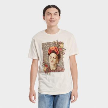 Men's Frida Kahlo Short Sleeve Graphic T-shirt - Beige