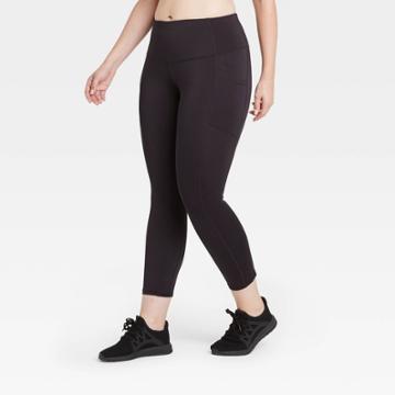 Women's Sculpted Mid-rise 7/8 Leggings 24 - All In Motion Black
