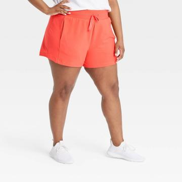 Women's Plus Size Mid-rise French Terry Shorts - All In Motion Coral