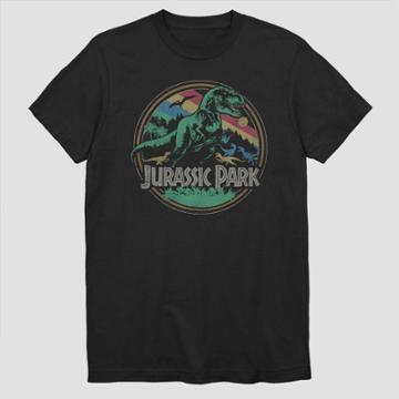 Men's Jurassic Park Circle Short Sleeve Graphic T-shirt - Black S, Men's,