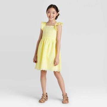 Girls' Embroidered Dress - Cat & Jack Yellow