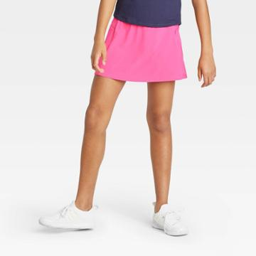 Girls' Stretch Woven Performance Skort - All In Motion Fuchsia Xs, Girl's, Pink