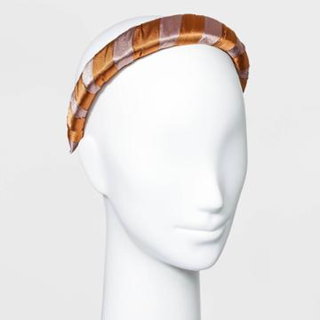 Two-tone Satin Wrapped Headband - A New Day Orange