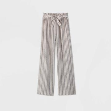 Girls' Paperbag Striped Pants - Art Class L, Girl's, Size: Large,