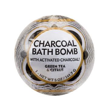 Me! Bath Green Tea And Citrus Charcoal Bath Bomb