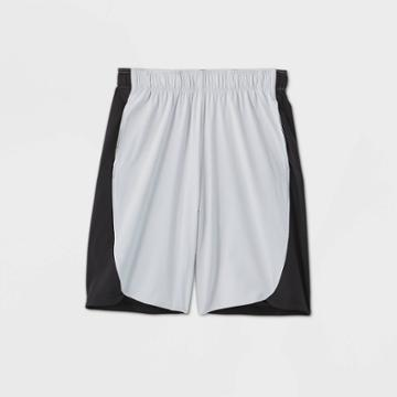 Boys' Color Block Stretch Woven Shorts - All In Motion Light Gray