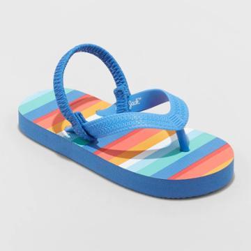 Toddler Boys' Adrian Slip-on Flip Flop Sandals - Cat & Jack Dark Blue