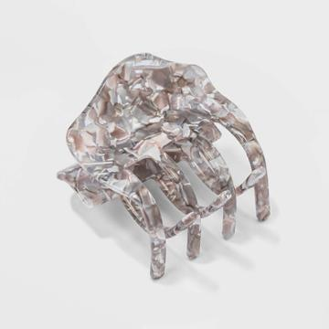 Flecked Lucite Claw Clip - A New Day Gray