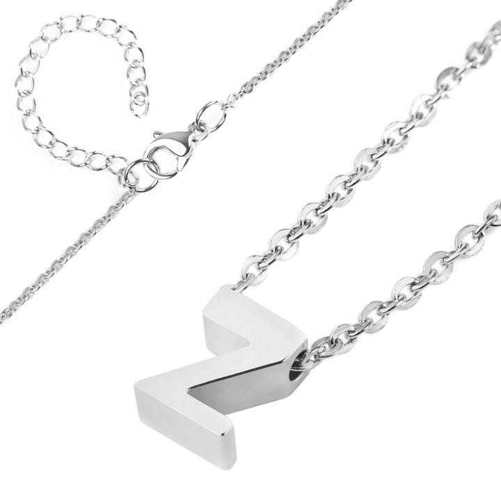 Women's Elya Stainless Steel Initial Pendant Necklace 'p', Size: P,