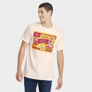 Men's Lucha Libre Short Sleeve Graphic T-shirt - Cream