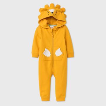 Baby Boys' Lion Long Sleeve Romper - Cat & Jack Gold Newborn